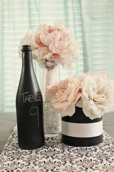 Cute idea! Chalkboard wine bottles