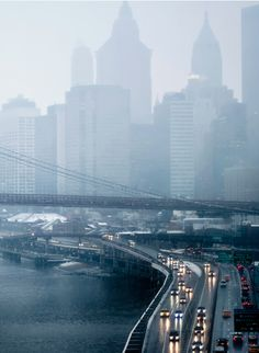 NYC. Foggy & blue South Manhattan