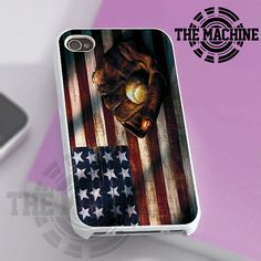 Vintage American Baseball Flag - iPhone 4/4s/5 Case - Samsung Galaxy S3/S4 Case - Black or White by THEMACHINEV8 on Etsy