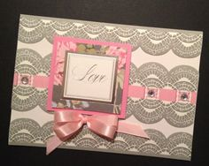 Elegant Valentine's Day Card with Anna Griffin Papers
