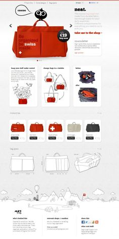 coucou - bag organizer - Best website, web design inspiration showcase