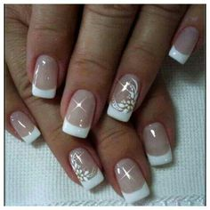 Gcvn Manicure Nail Designs, French Manicure Nails, Fall Nail Art Designs, Colorful Nail Designs, French Tip Nails, Gel Nails, Gorgeous Nails, Pretty Nails, Jennifer Nails