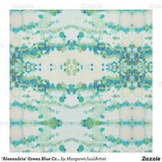 'Alexandria' Green Blue Cream Decor Fabric Juul