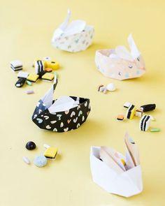 Origami cestinha em formato de coelho #cestodepáscoa #origami #easter #façavocêmesmo #pascoa #diy