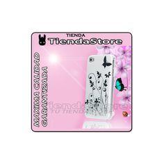 Funda iPhone 4/4S Garden color blanco con detalles flores y mariposas plateadas. http://www.tutiendastore.es/fundas-rigidas-iphone-4-4s/159-funda-carcasa-garden-iphone-4-4s-.html #iphone4 #iphone4s #fundaiphone4 #tutiendastore