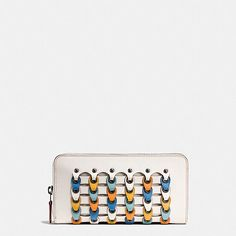 ACCORDION ZIP WALLET IN COACH LINK GLOVETANNED LEATHER