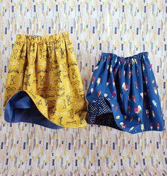 Girl's Fully Reversible Skirt - FREE PDF Pattern