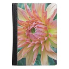 Pink and Yellow Dahlia Floral Photo iPad Air Case