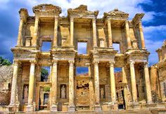 The library of celsus (in turkey) was built to store 12,000 scrolls and to serve as a monumental tomb for celsus (who had been consul in 92 ad, governor of asia in 115 ad, and a wealthy and popular local citizen). the building is important as one of few remaining examples of an ancient roman-influenced library. it also shows that public libraries were buil