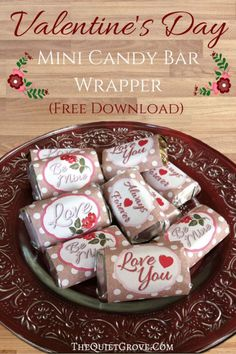 FREE Valentine's Day Candy Bar Wrapper Printables