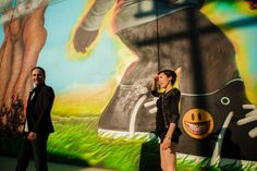 Pin for Later: Graffiti Adds Edge to This Artsy Engagement Shoot