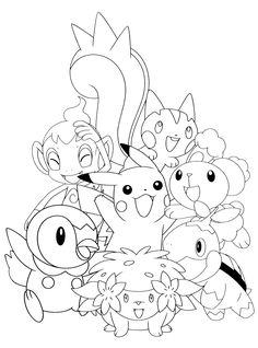 Coloring page Pokemon anime for paint - Ausmalbilder für Paint - Lego Cute Coloring Pages, Disney Coloring Pages, Free Coloring, Coloring Books, Pokemon Coloring Sheets, Pikachu Coloring Page, Pokemon Birthday, Pokemon Party, Avengers Coloring Pages