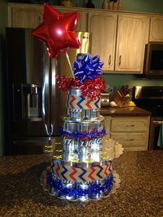 Beer cake for military homecoming! Military Welcome Home, Welcome Home Soldier, Welcome Home Daddy, Welcome Home Decorations, Welcome Home Parties, Deployment Party, Military Deployment, Military Wife, Military Homecoming Signs