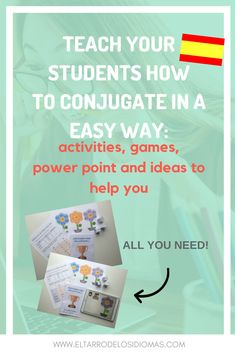 Easy resources to teach conjugation in Spanish. Ideal for initial levels. Ideas and activities for your Spanish Lessons MFL GCSE SPANISH Spanish Projects, Spanish Lessons For Kids, Spanish Teacher, Spanish Classroom, Spanish Language Learning, Teaching Spanish, Learning Quotes, Class Activities, Learn English