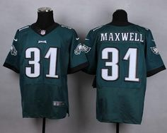 """$23.88 at """"MaryJersey""""(maryjerseyelway@gmail.com) Nike Eagles 31 Byron Maxwell Midnight Green Team Color Men Stitched NFL New Elite Jersey"""