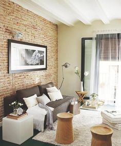[Interior] Apartamento de 55 m² con estética tipo loft newyorkino http://patriciaalberca.blogspot.com.es/
