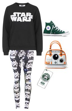 """Star Wars"" by myakristj12 ❤ liked on Polyvore featuring Topshop and Converse"