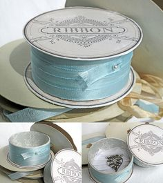 a ribbon spool with a secret compartment -- printable labels & a tutorial
