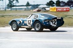Ed Leslie and Allen Grant drove this Cobra Daytona Coupe at Sebring in 1965.