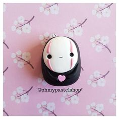 Polymer clay Kaonashi, Studio Ghibli, Spirited away, Polymer clay charm, Cute charm, polymer clay jewelry, fimo charms, kawaii stuff, cute clay jewelry