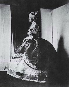 Photo of Empress Eugenie dressed as Marie Antoinette (1854)