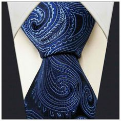 Black / Blue Paisley Pattern Necktie