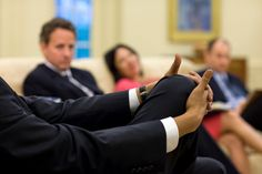 President Obama participates in a health care implementation meeting in the Oval Office, April 21, 2010