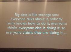Big Data is like teenage sex...