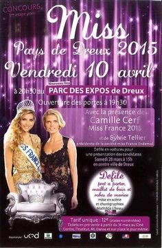 Election Miss Pays de Dreux 2015 Vendredi 10 Avril 2015 à 20H30