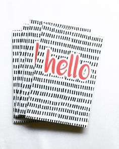 "An original pattern with the simplest ""hello"". Every card card comes with an envelope and measures at 6 ..."