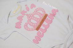 Body Personalizado Princesinha  Trabalho artesanal, e personalizado.  Com aplicações em pérolas e stras  Fazemos em outros nomes e estampas!!!  Confeccionamos em outros tamanhos  Consulte disponibilidade de tamanhos e estampas.