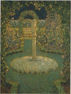 The Athenaeum - Garden in the full moon (Henri Le Sidaner - )