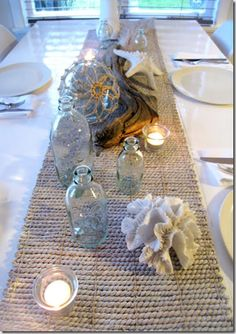 beachy style table setting