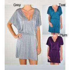 Institute Liberal Women's Cape Sleeve Knit Mini Dress