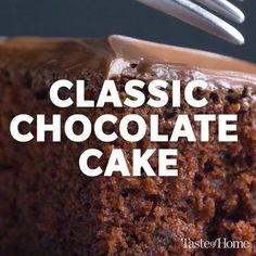 If you need to learn how to make a cake, this easy chocolate cake recipe is a perfect place to start. It appeared on a can of Hershey's Cocoa way back in 1943. I tried it, my boys liked it and I've been making it ever since.—Betty Follas, Morgan Hill, California Classic Chocolate Cake Recipe, Chocolate Cake From Scratch, Easy Vanilla Cake Recipe, Easy Cake Recipes, Chocolate Recipes, Baking Recipes, Classic Recipe, Cake Chocolate, Chocolate Making