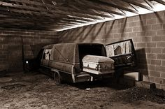 The Last Ride Abandoned Funeral Home by KathrynNee on Etsy, $25.00