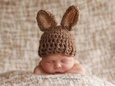 Newborn Bunny Hat Newborn Photo Prop by VioletsPlayground on Etsy, $25.00