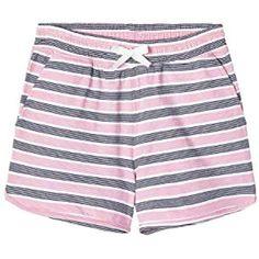 Guess Short Pantaloncini con Logo Blu Ragazza Bambina