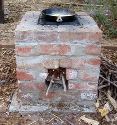 outdoor kitchen - rocket stove