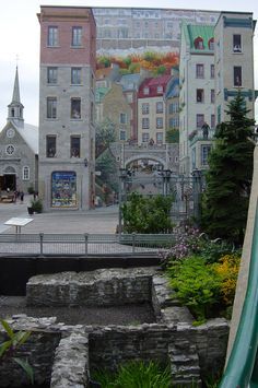 Trompe l'oeil, Quebec City. Been right in front of that painting. Desperately want to go back to Québec!