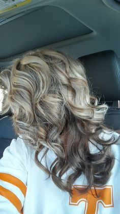 Blonde on top with brown lowlights with all over brown underneath