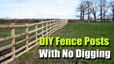 DIY Fence Posts With No Digging, shtf, prepping, homesteading, erect fences, how to put up a fence, diy, garden, gardening, fences, homestead, frugal,