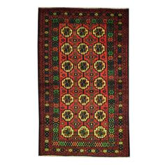 Refurbished Herat Oriental Semi-Antique Afghan Hand-knotted Tribal Balouchi Red/ Rug
