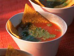 Soupe de tomate au basilicVoir la recette de la Soupe de tomate au basilic