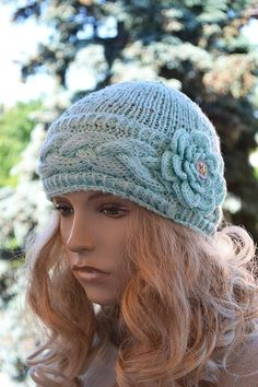 Knitted cap / hat lovely warm autumn accessories by DosiakStyle ♡ ♡