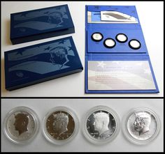 2014 Kennedy 50th Anniversary Silver Half Dollar 4 Coin Set w/ Box & COA