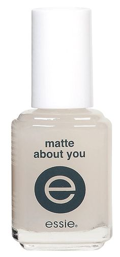 Make any nail polish instantly matte - matte about you from #essie #nails #products