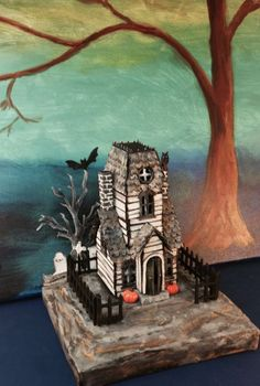 I've just finished my second Haunted Manor using the Tim Holtz Village Manor die by Sizzix. I decided (as I always do) to make it a little d...