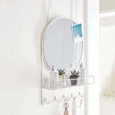 Over The Door Mirror With Storage | PBteen
