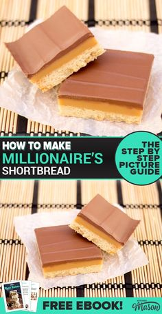 Millionaire's Shortbread on Baking Paper Tray Bake Recipes, Baking Recipes, Cookie Recipes, Dessert Recipes, Caramel Shortbread, Shortbread Recipes, Shortbread Bars, Millionaire Shortbread Recipe, Impressive Desserts